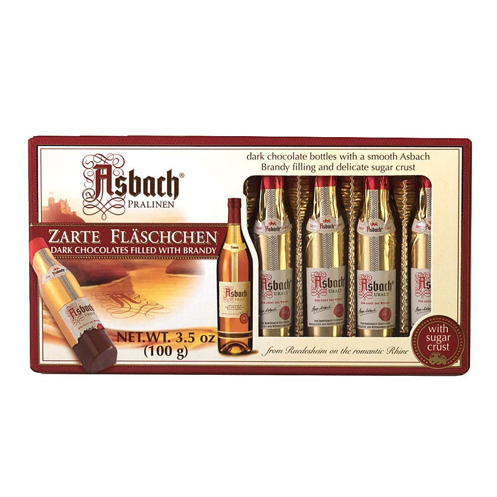 Asbach Brandy Dark Chocolate Zarte Fläschchen