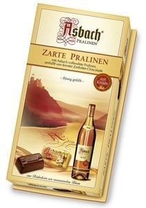 Asbach Chocolate Brandy Zarte Pralinen with Sugar Crust (125g)
