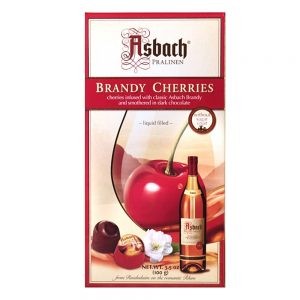 Asbach Dark Chocolate Brandy Cherries (100g)