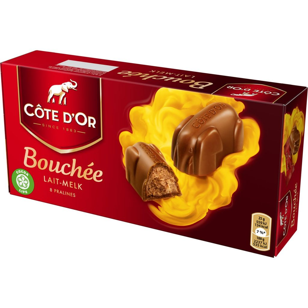 Côte d'Or Bouchée Milk Chocolate with Praline Filling