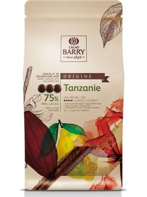 Cacao Barry Tanzanie 75% Dark Chocolate Baking Discs