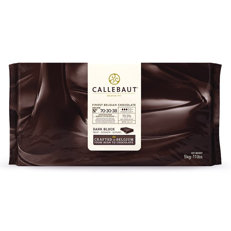 Callebaut 70-30-38 70.5% Dark Chocolate Baking Block