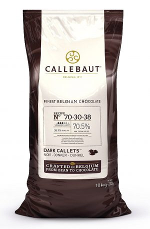 Callebaut 70-30-38 70.5% Dark Chocolate Baking Callets