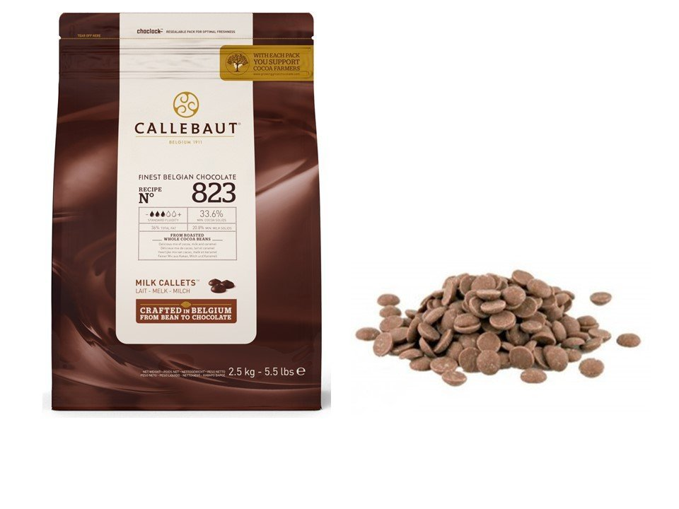 Callebaut 823 33.6% Milk Chocolate Baking Callets