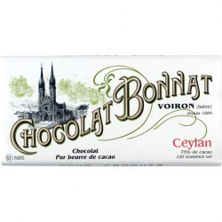 Chocolat Bonnat Ceylan 75% Dark Chocolate Bar