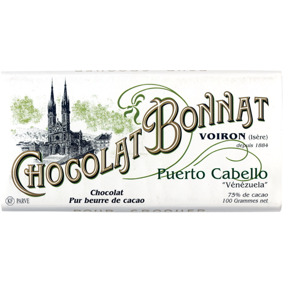 Chocolat Bonnat Puerto Cabello 75% Dark Chocolate Bar