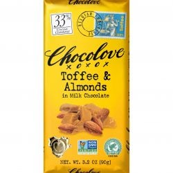 Chocolove 33% Toffee & Almonds Milk Chocolate Bar