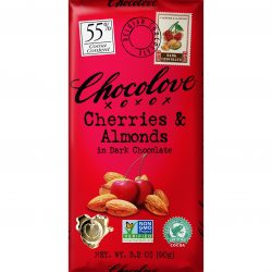Chocolove 55% Cherries & Almonds Dark Chocolate Bar