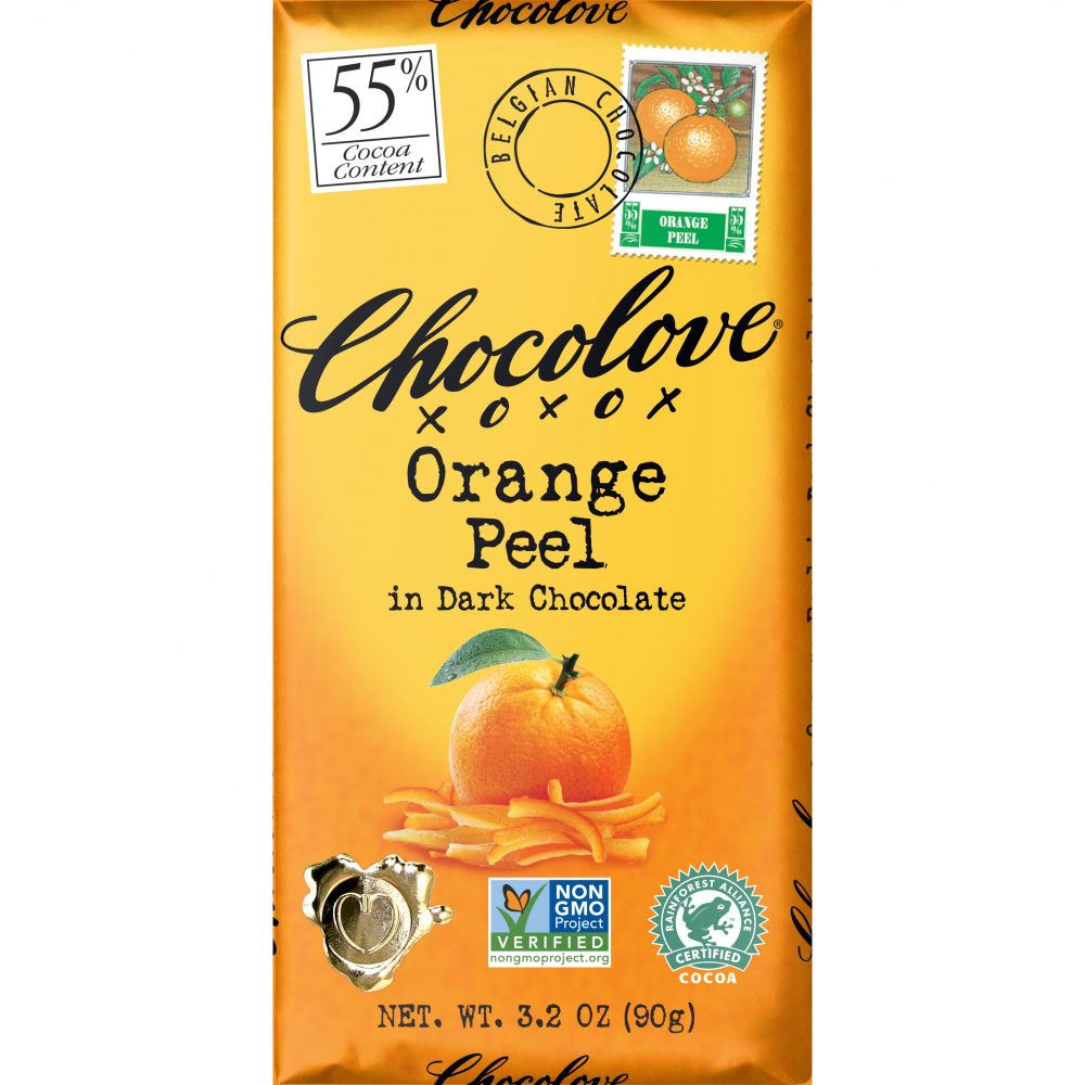 Chocolove 55% Orange Peel Dark Chocolate Bar