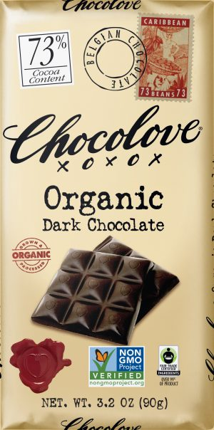 Chocolove 73% Organic Dark Chocolate Bar