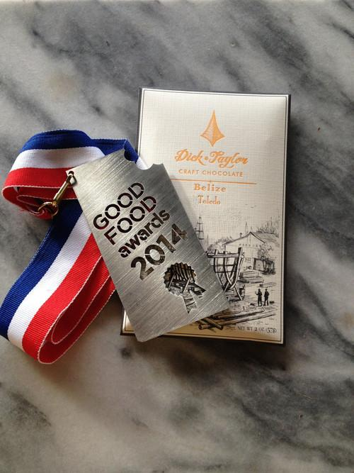 Dick Taylor 72% Belize Dark Chocolate Bar Award