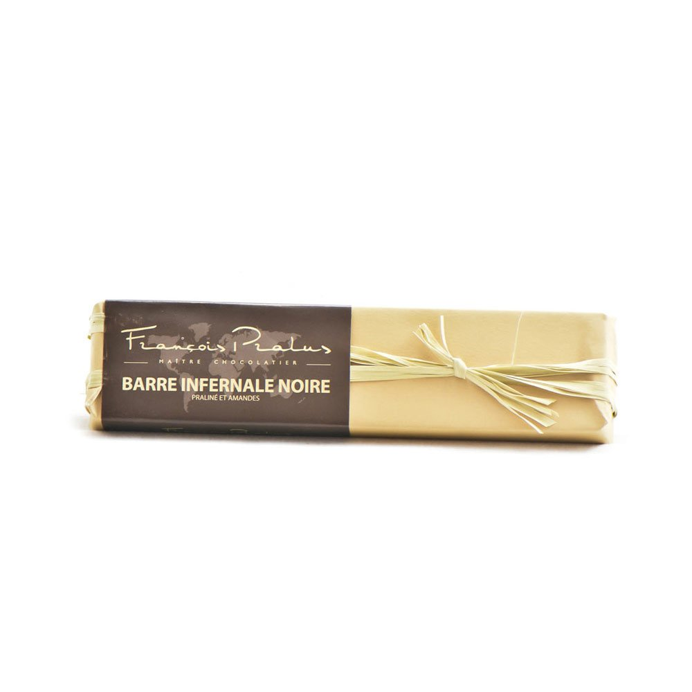 François Pralus Almond & Praline 75% Dark Chocolate Bar