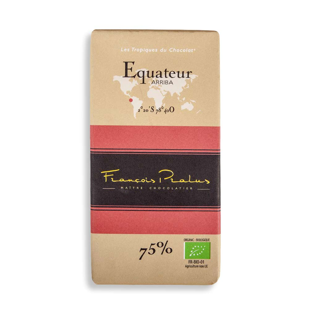 François Pralus Ecuador 75% Dark Chocolate Bar