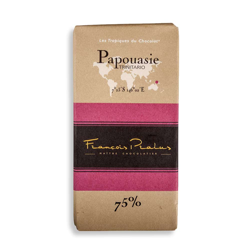François Pralus Papouasie 75% Dark Chocolate Bar
