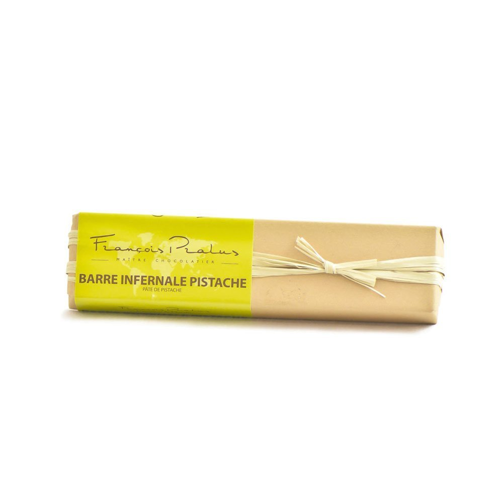 François Pralus Pistachio Paste 75% Dark Chocolate Bar