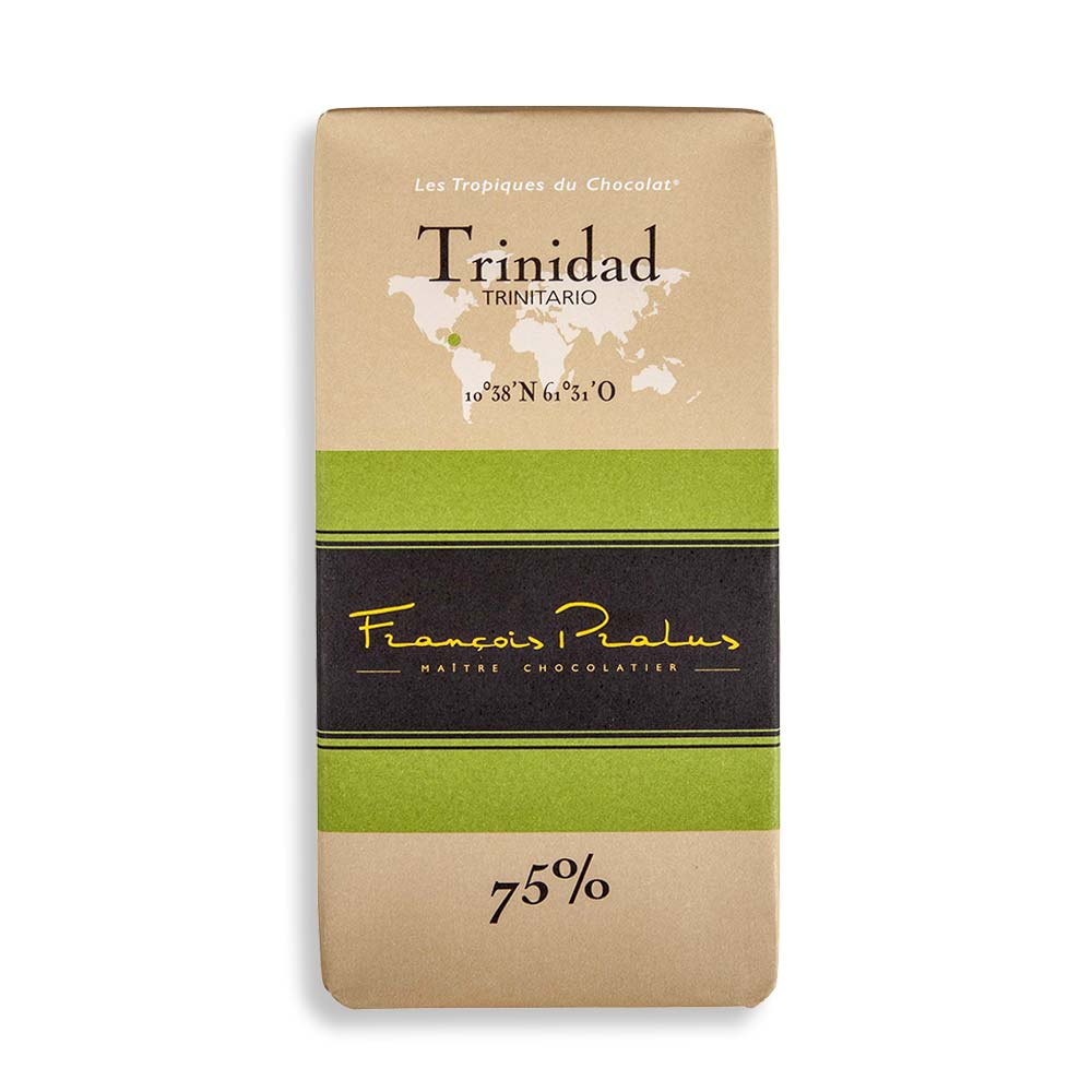 François Pralus Trinidad 75% Dark Chocolate Bar