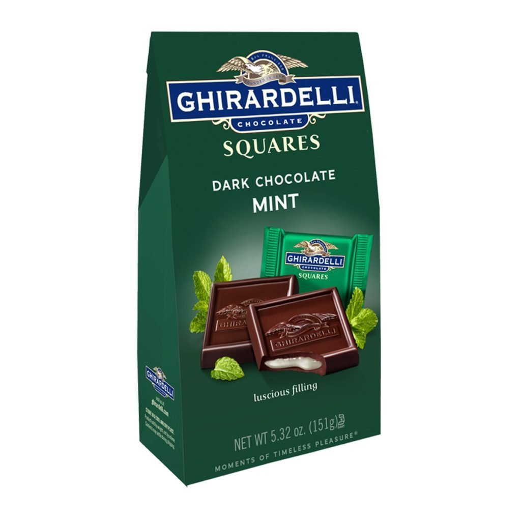 Ghirardelli Dark Chocolate & Mint Squares