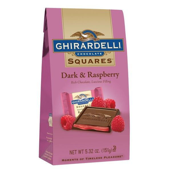Ghirardelli Dark Chocolate Raspberry Squares