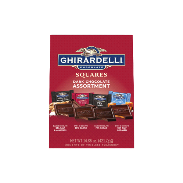 Ghirardelli Dark Chocolate Squares Premium Assortment