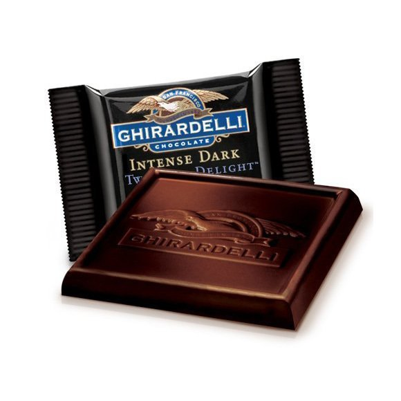 Ghirardelli Twilight Delight 72% Dark Chocolate Squares 50-Count Box