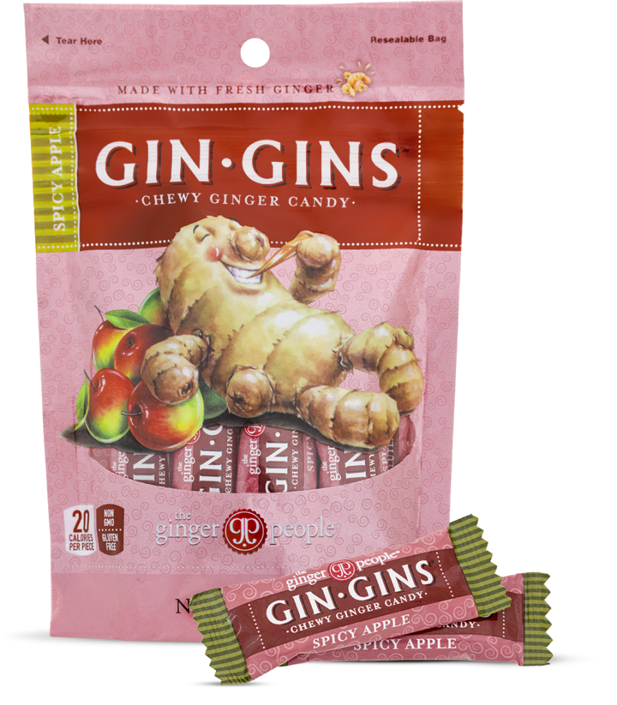 Gin Gins Spicy Apple Chewy Ginger Candy