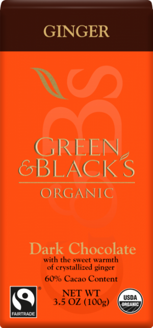 Green & Black's 60% Ginger Dark Chocolate Bar