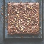 Guittard Brown Butter Brownies with Hazelnuts & Salted Caramel
