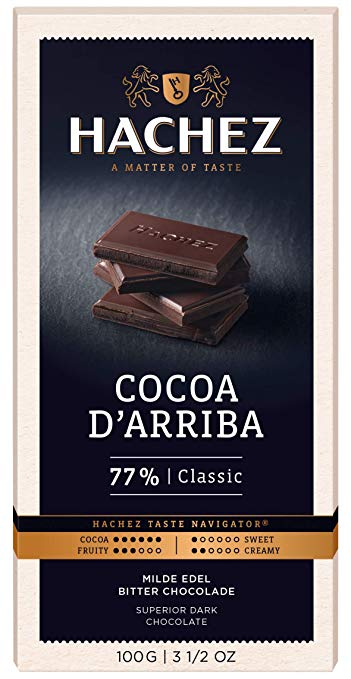 Hachez 77% Classic Dark Chocolate Bar
