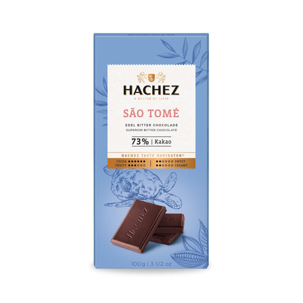 Hachez São Tomé 73% Dark Chocolate Bar