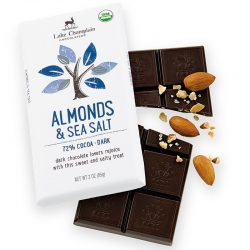Lake Champlain 72% Almonds & Sea Salt Dark Chocolate Bar