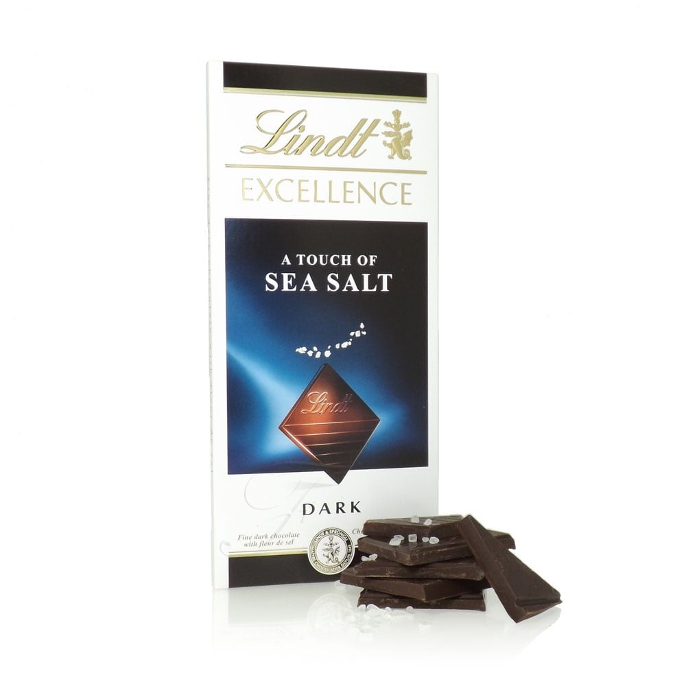 Lindt Excellence Touch of Sea Salt Dark Chocolate Bar