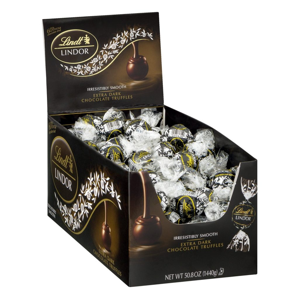 Lindt LINDOR 60% Extra Dark Chocolate Truffle Box