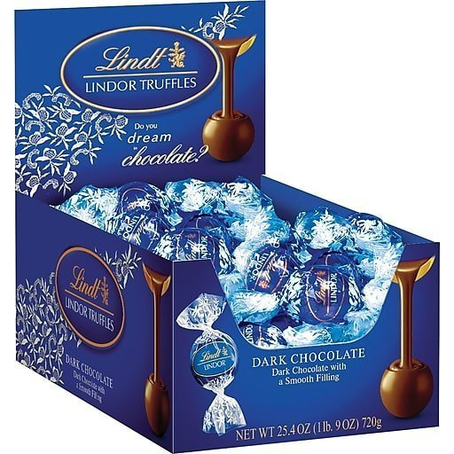 Lindt LINDOR Dark Chocolate Truffle Box (60ct)
