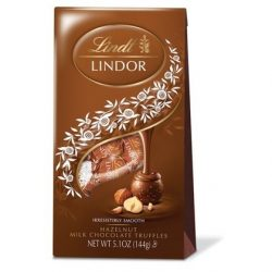 Lindt LINDOR Hazelnut Milk Chocolate Truffle Bag