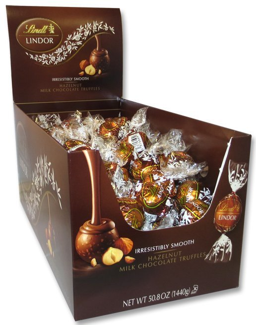 Lindt LINDOR Milk Chocolate Hazelnut Truffle Box