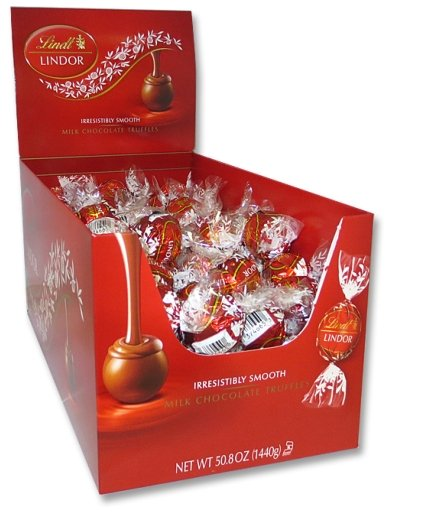 Lindt LINDOR Milk Chocolate Truffle Box (120ct)