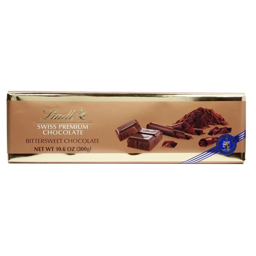 Lindt Swiss Surfin Bittersweet Dark Chocolate Gold Bar