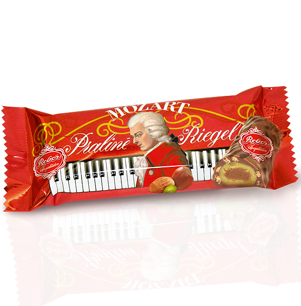 Reber Mozart Milk Chocolate Piano Bar