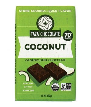Taza 70% Dark Chocolate Coconut Bar