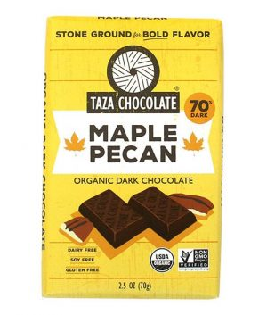 Taza 70% Maple Pecan Dark Chocolate Bar