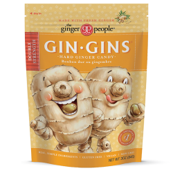 The Ginger People Gin Gins Double Strength Hard Ginger Candy