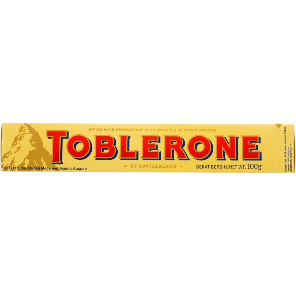 Toblerone Honey & Almond Nougat Milk Chocolate Bar