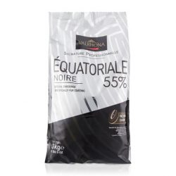 Valrhona Équatoriale 55% Dark Chocolate Baking Feves Bag