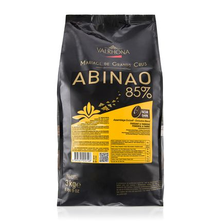 Valrhona Abinao 85% Dark Chocolate Baking Feves Bag