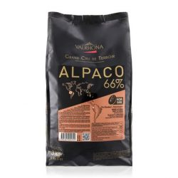 Valrhona Alpaco 66% Dark Chocolate Baking Feves Bag