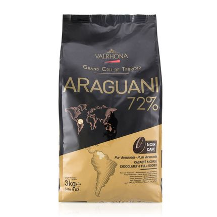 Valrhona Araguani 72% Dark Chocolate Baking Feves Bag