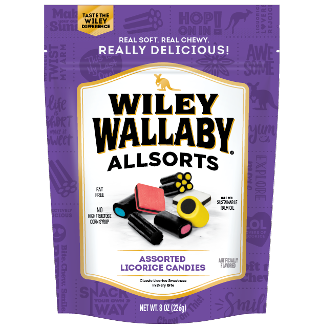 Wiley Wallaby Allsorts Liquorice
