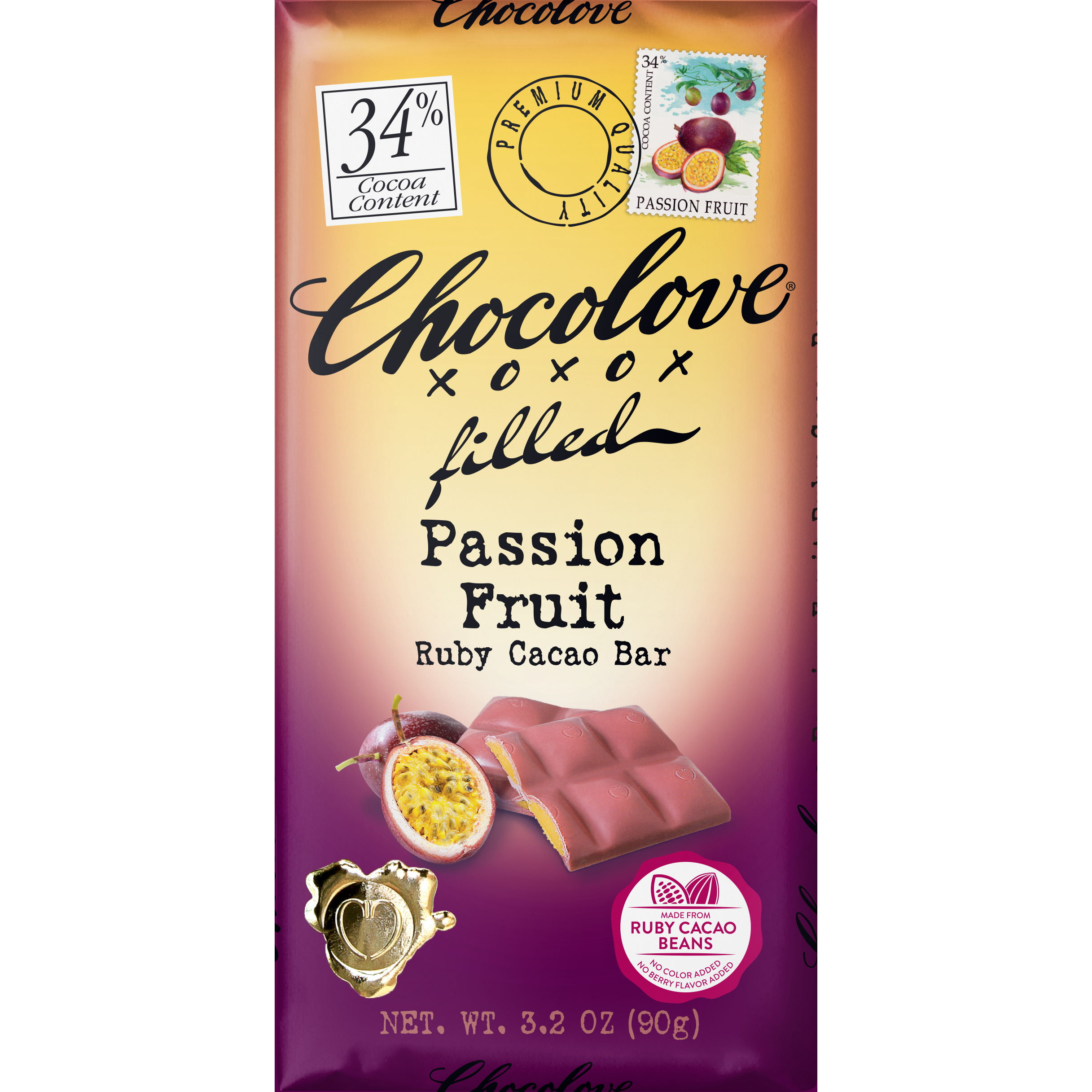 Chocolove 34% Passion Fruit Ruby Cacao Bar