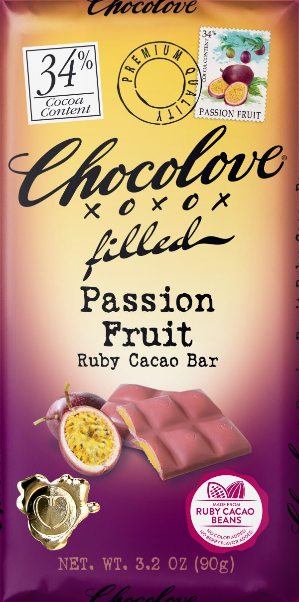 Chocolove Passion Fruit in 34% Ruby Cacao Bar