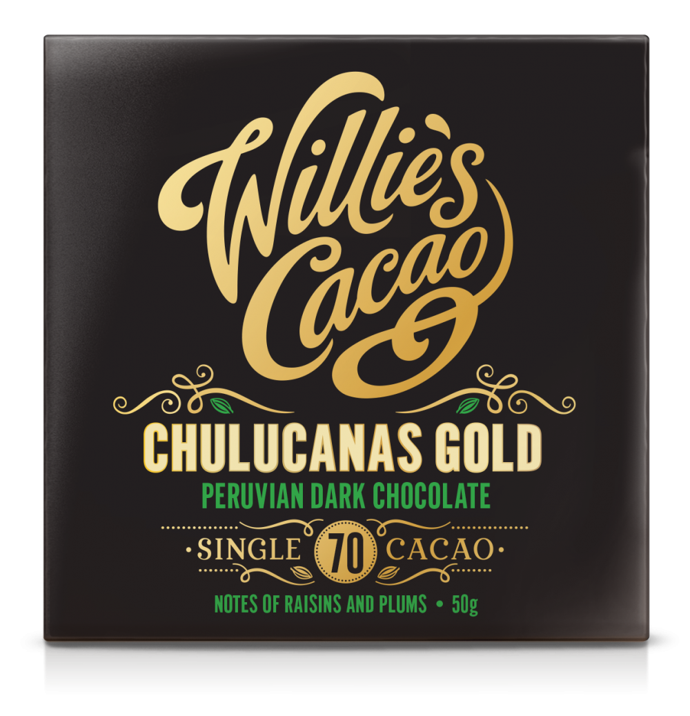 Willie's Cacao Chulucanas Gold 70% Dark Chocolate Bar
